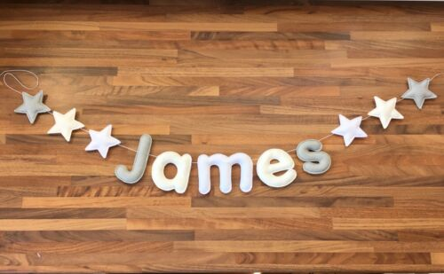 baby shower kids decor nursery new baby gift Name garland bunting