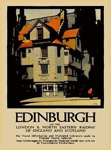 Edinburgh England Scotland Great Britain Vintage Travel ...