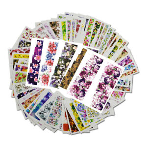 48x-Flower-Decals-Water-Transfer-Manicure-Nail-Art-Stickers-Tips-Decoration-DIY