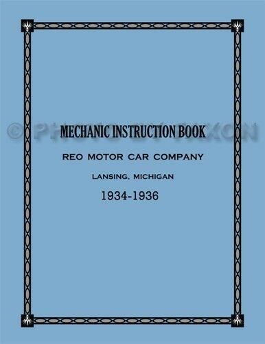 1934 1935 Reo Speedwagon and Truck Shop Manual Set of 2 Books Repair Service
