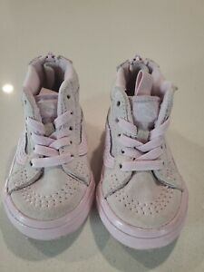 Baby girl vans shoes Size 4, 12 Months