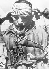 B&W WWII WW2  Photo Japanese Kamikaze Pilot Prepares  World War Two / 2217