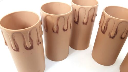 Antique drip candle Tubes sleeves with Plastic 85mm x 39mm internal pack of 5