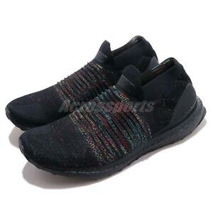 online store 3d7f4 aa2a6 Details about adidas UltraBOOST Laceless Black Multi-Color Rainbow Mens  Running Shoes B37685