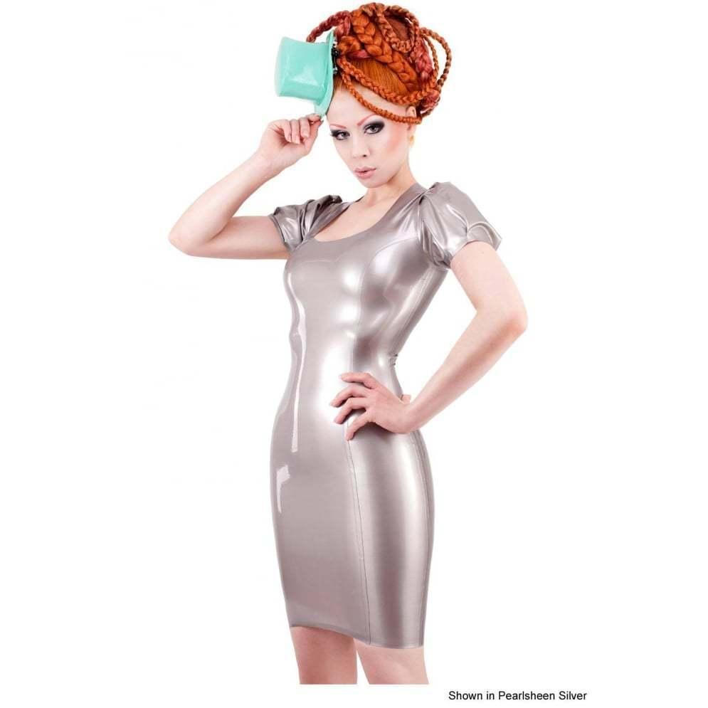R1510 Beautiful Latex WESTWARD BOUND Madam DRESS 18 UK SHOWN SECONDS