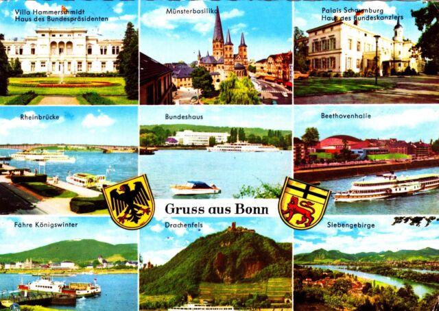 Gruss aus Bonn , Ansichtskarte