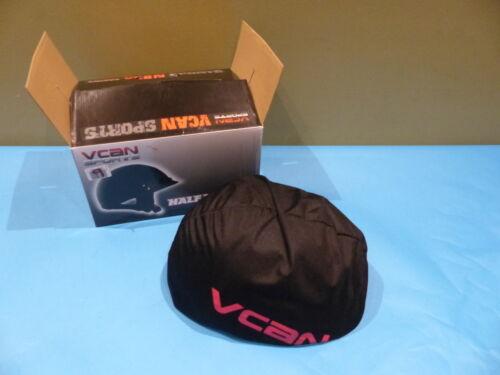 VCAN SPORTS V53115:22 FLAT BLACK HALF HELMETS SZ S