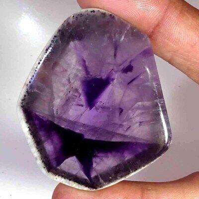 41X36X6 mm Loose Gemstone  E-165 Freeform Shape  91.00 ct Polished Star Amethyst Slice  Purple Trapiche Star Amethyst Slice