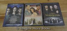 The Twilight Saga: Twilight/New Moon/Eclipse (DVD, 2015, 3-Disc Set, Extended Editions)