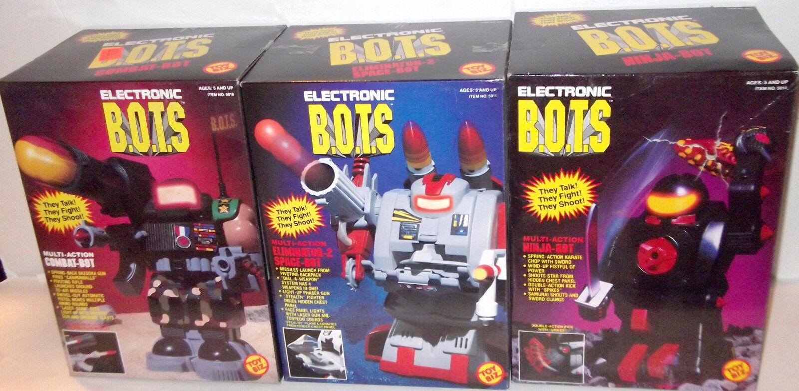 ✰ LOT of 3 ✰ Electronic B.O.T.S Space-Bot Figure Vintage 1992 SEALED toybiz MISB