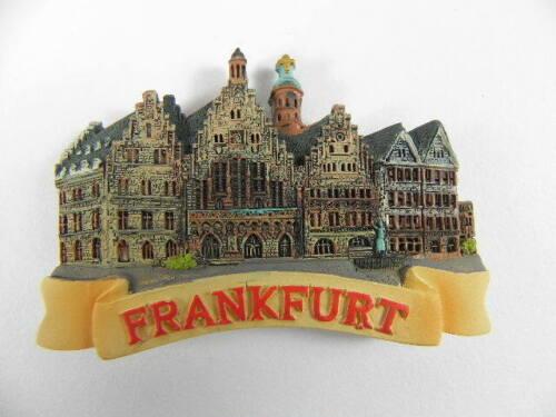 Magnet Frankfurt Römer Souvenir Deutschland Germany Relief Poly,neu