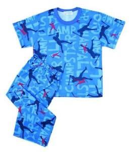 Baseball-Champ-Printed-Pajama-Set-Boys-Baby-Toddler-Sleepwear-XS-2-3-yrs-old