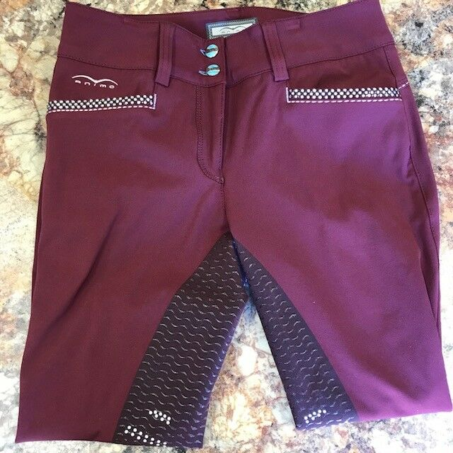 Animo Nesci Full Grip Breeches in Amaranto