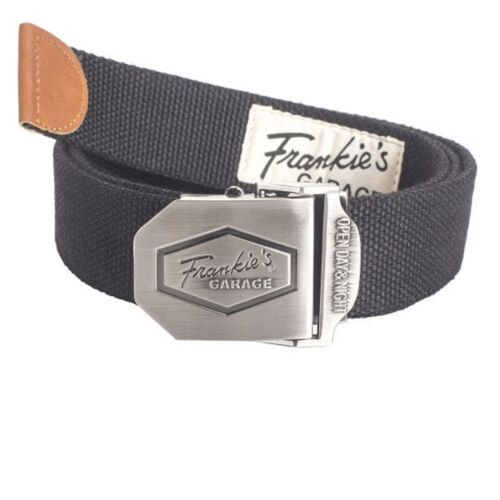 Frankie /'s Garage 3x ceinture métal-fermeture rapide 3 morceau de tissu ceinture /& Boucle