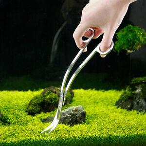Aquarium-Tank-Stainless-Steel-Mirror-Effect-Wave-Scissor-Aquatic-Plants-Trimmer