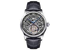 Memorigin Men's AT-0617 Orbit Series Skeleton Stainless Steel Tourbillon Watch