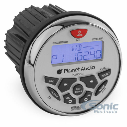 Planet Audio 3.5 Inch Marine MP3//Radio Bluetooth Boat Stereo ReceiverPGR35B