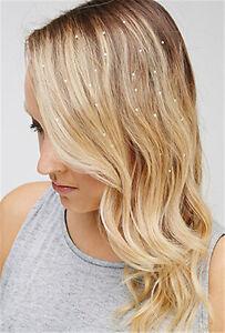 Charming-Iron-On-Jewels-Hair-Extension-Straightener-Diamante-Gem-48pcs-New