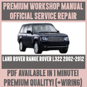 workshop manual service repair for land rover range rover l322 rh ebay co uk