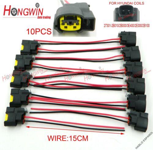 10Pc 273502B000 Ignition Coil Wire Fits Hyundai Kia Veloster Rio Soul 10-14 1.6L