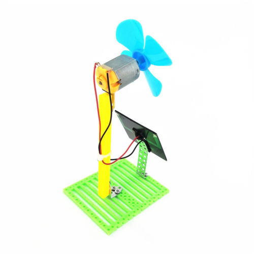 Science Toy DIY Solar Powered Electric Fans Physics Motor Circuit Device Kit