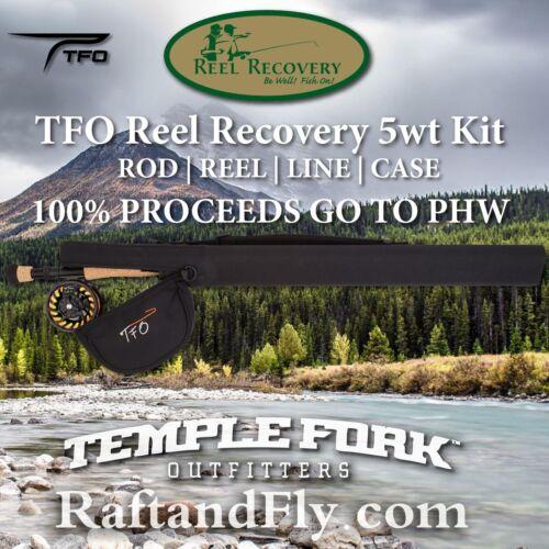 TFO bénéfice Reel Recovery Kit 5wt-Nous Faire Un Don De 100% à moulinet récupération!