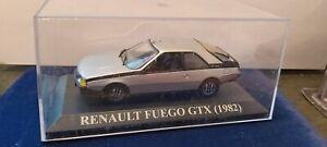 IXO-1-43-RENAULT-FUEGO-GTX-1982-GRISE-NEUF-EN-BOITE
