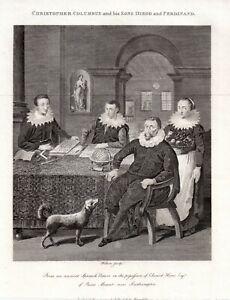 CHRISTOPHER-COLUMBUS-AND-FAMILY-1794-BRYAN-EDWARDS-Antique-Portrait