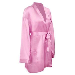 Women Silky Kimono Bridesmaid Bath Robe Sleepwear Lingerie