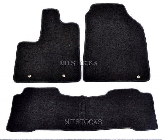 FIT FOR 2001-2006 ACURA MDX BLACK NYLON CARPET FLOOR MATS