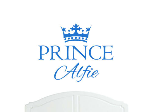 Crown Prince Alfie Large Wall Sticker//Vinyl Bed Room//Nursery Art Boy//Baby