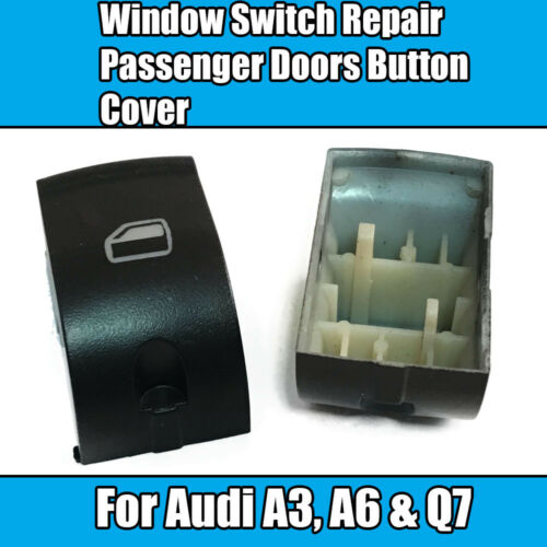 1x For Audi A3 A6 Q7 Window Switch Repair Passenger Doors Button Cover Black