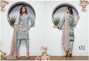 Shalwar di in barocca Designer ricamo chiffon Collezione Kameez pakistana 2018 Hwq8xF6