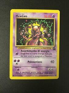 Pokemon Mewtwo Wizard Black Star Promo 14 Rare  In Italiano Dvd Strikes Black