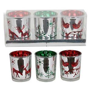 Village-Candle-Set-of-3-Christmas-Votive-Holders-Gift-Set