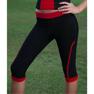 Ladies Running Yoga Pilates Pants Women Gym Fitness Exercise Clothes Black Blue