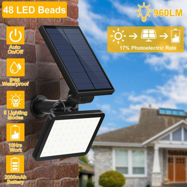 OUTAD Solar Powered Spotlight Outdoor Garden Lawn Landscape Waterproof LED x8