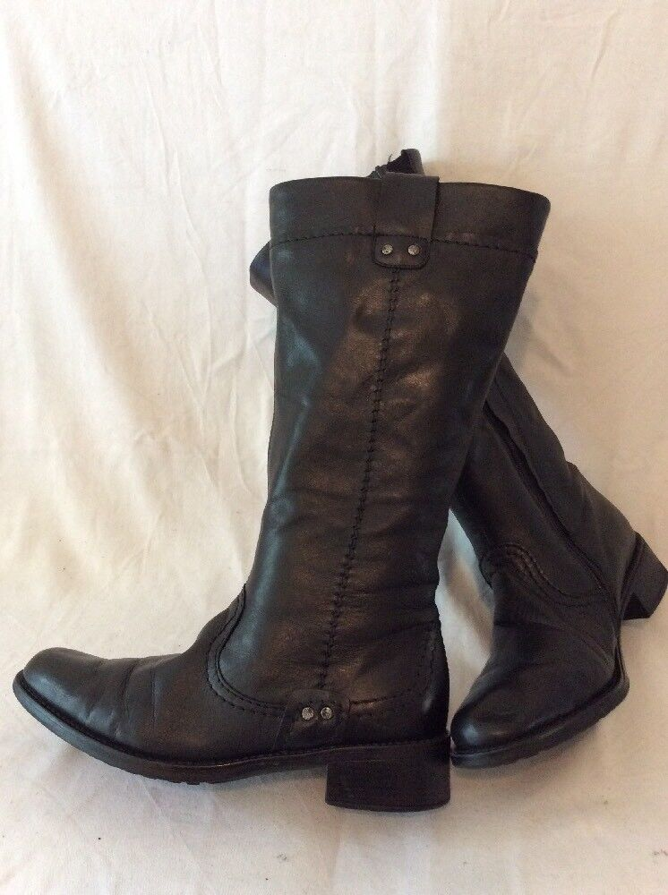 Rieker Mid Calf Leather Boots Size 39