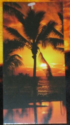 New Orange Sky Palm Tree Tropical Island Bath Beach Pool Gift Towel Sunset Shore