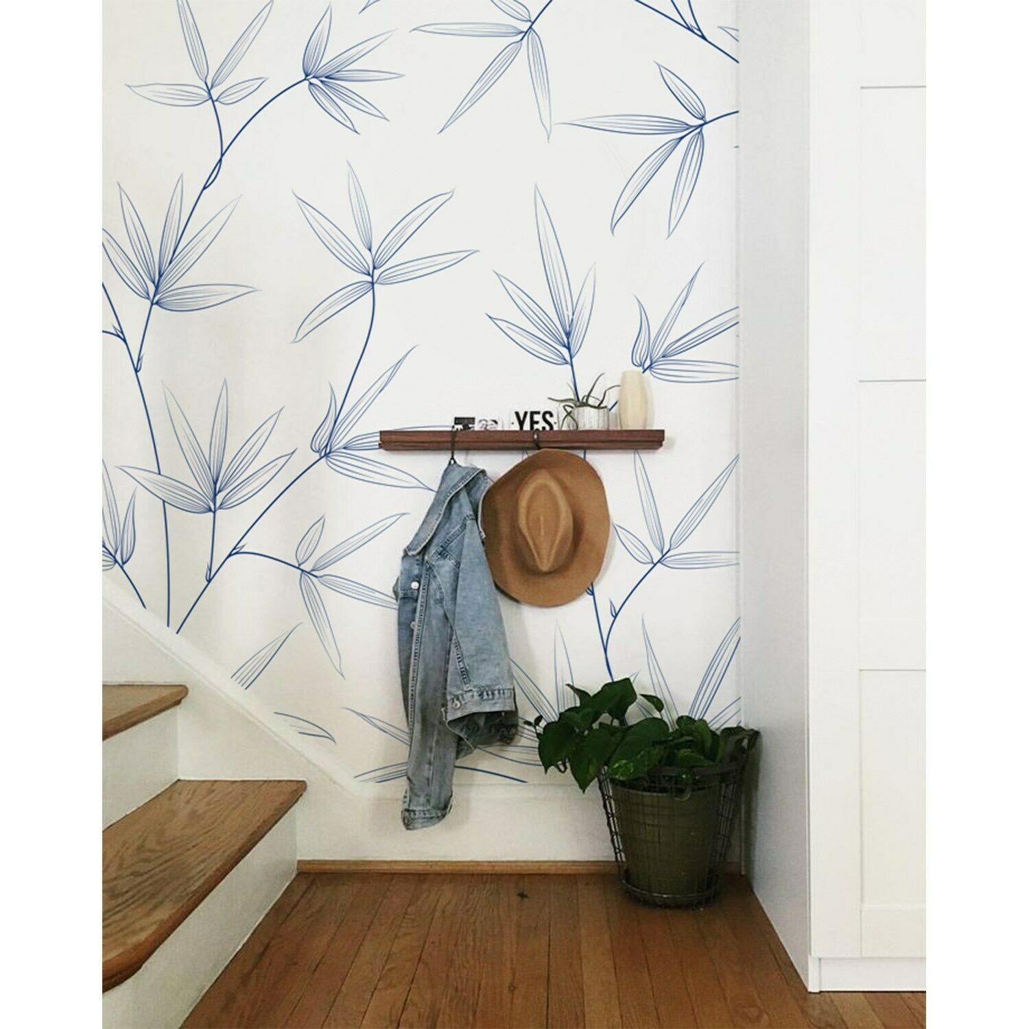 Leaf wall art Non-Woven wallpaper Leaves wall Home Mural Leaf Pastel Modern art