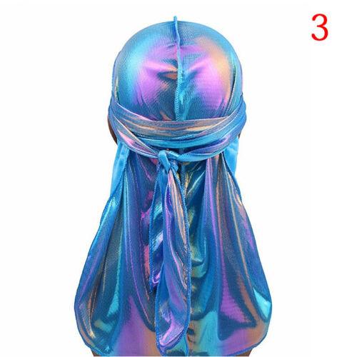Fashion Women Men Silky Durag Head Wrap Cap Summer Bandannas Rag Hat TEUS BWUS