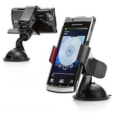 """Universal XI Car Holder Windshield Mount Bracket for mobile phones 360"""" Black US"""