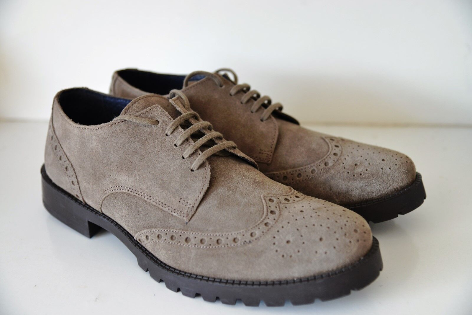 New Florsheim Premium Mens grau Suede Suede Suede Brogue Formal Leather Smart schuhe UK7 9545ed