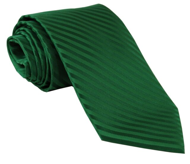New Polyester Woven Formal Men's necktie tone on tone stripes emerald green prom