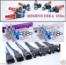 fit Nissan Skyline RB25DET r33 GTS-T Siemens Deka 650cc Fuel Injectors Fuel Rail