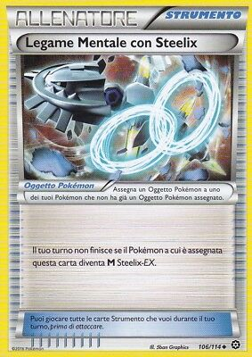 Carte Pokemon LIEN SPIRITUEL STEELIX 106//114 Reverse XY11 Off Vapeur FR NEUF