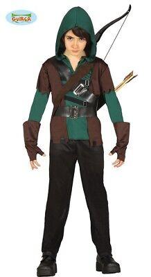 Selbstbewusst, Befangen, Gehemmt, Unsicher, Verlegen Guirca Kostüm Bogenschütze Robin Jäger Kinderkostüm