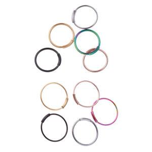 10Pcs-Seamless-Hinged-Segment-Clicker-Ring-Hoop-Ear-Lip-Nose-Septum-Piercing