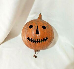 Vintage?/Antique? Halloween Jack-O-Lantern Pumpkin Decor/Candle/Light Holder