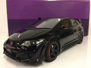 Honda-Civic-Type-R-Negro-1-18-Escala-Resina-Kyosho-KSR18022BK